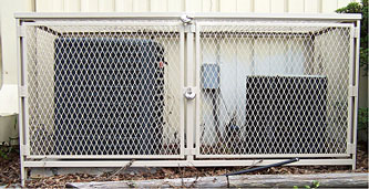 Protected AC Unit with Valiant AC Security Cage